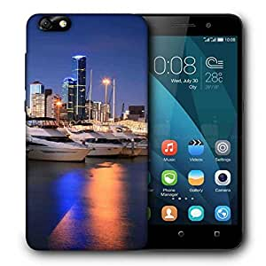 Snoogg White Boats Printed Protective Phone Back Case Cover For Huawei Honor 4X