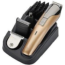 Profesional 8 en 1 cuchilla eléctrica Men's Trimmer de cuerpo y oído y nariz Hombres cortadora de pelo máquina de afeitar eléctrica Maquinilla de afeitar barba recortadora cortadora recorte de corte de pelo