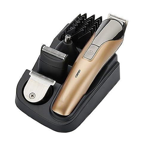 Tondeuse à cheveux électrique multifonctionnelle Kit de toilettage Nose Ear Rasoirs à la barbe et à la moustache Shaver Razor Suit Rechargeable Hair Cutter (8 in 1)