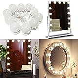 Benagio Juego de 10Hollywood estilo espejo de tocador Kit de luces LED con intensidad regulable...