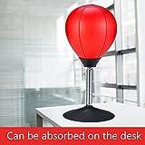 Walmics Desktop freistehende Stressabbau-Boxsack mit starkem Saugnapf, für Erwachsene, Kinder, Zuhause, Büro, Anti-Angstspielzeug, Trainingswerkzeug, rot, madium