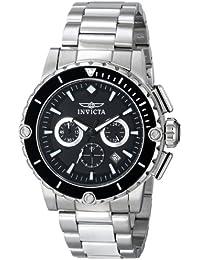 INVICTA 15398 - Reloj de cuarzo para hombre, correa de acero inoxidable color negro