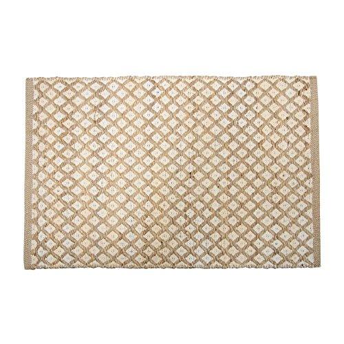 Penguin Home Handwebteppich Diamond Jute und Chenille, 152 x 183 cm