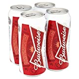 Cans Budweiser Beer 4 x 440ml