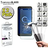 FINDING CASE [2 Pack ] Screen Protector For Alcatel 1C (2019),Tempered Glass Film Cover,0.33mm HD 9H Hardness 2.5D (Easy Installation Frame)