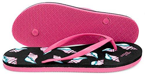 Tongs Aqua-speed® Napoli (36-41 Plage Femmes) Farbe 07 / Schwarz-pink