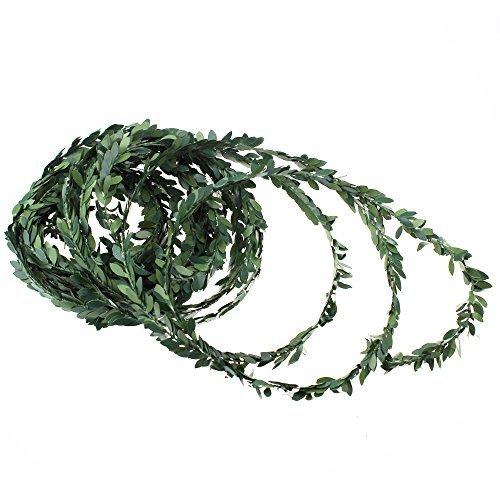 Ljy - ghirlanda artificiale con foglie d'edera/rampicante 30m, per feste di nozze, cerimonie, fasce fermacapelli fai-da-te