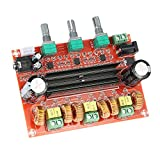 KKmoon Amplificatore di Potenza Audio Scheda di amplificazione, TPA3116D2 50W * 2 + 100W 2.1 canali Subwoofer, DC12V-24V