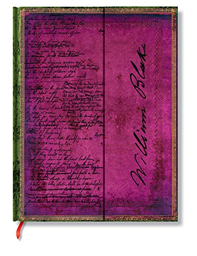 Faszinierende Handschriften Blake Gedichte - Faux Leder - Notizbuch Groß Liniert - Paperblanks (Leder Blake)