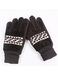Gants hommes automne hiver coréen gants cycliste gants en cuir rembourré chaud-mitaines