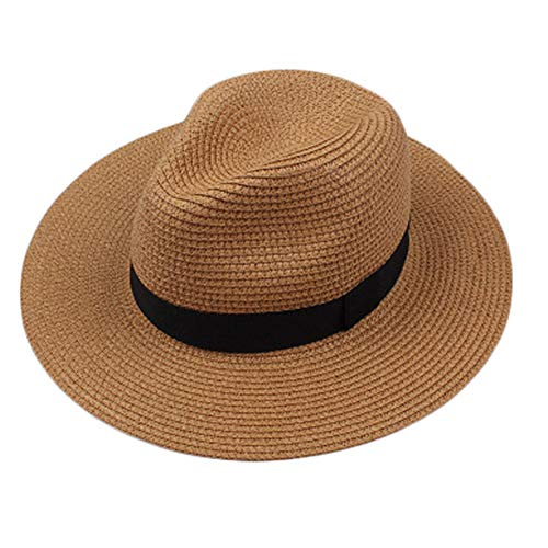oh Panama Hut Sommer Sonnenhut breiter Krempe Roll up Schatten Hut Fedora Beach Sun Cap UPF50 + ()
