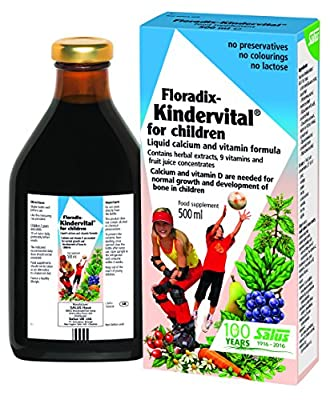 Floradix Kindervital Original Formula Childrens Liquid Multivitamin 500ml from Salus