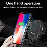 #7: ELOVE 2 in 1 Car Phone Mount and Qi Standard Wireless Fast Charger with 360° Rotation Universal Cell Cradle for All Smartphones