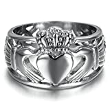 Best Epinki Friend Rings For 2 Crowns - Stainless Steel Ring for Men, Heart Crown Ring Review