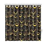 JEOLVP Home Decor Bad Vorhang Nahtlose Halloween Hintergrund Mit Der Schrecklichen Pu Polyester Stoff Wasserdicht Duschvorhang Für Badezimmer, 72 X 72 Zoll Duschvorhänge Haken Enthalten