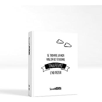 ScuolaZoo Agenda Diario scolastico 2018 2019 con meme divertentissimi e tanti adesivi, disponibile in 6 colori e 3 dimensioni (Bianco, Pocket)