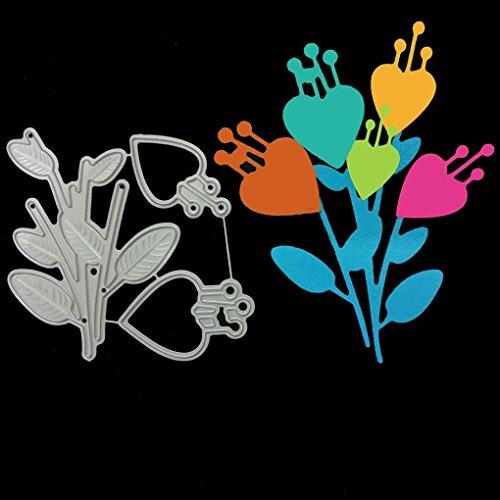 FNKDOR Scrapbooking Stanzschablone Stanzen Schneiden Schablonen Embossing Machine Stanzformen, für Sizzix Big Shot und Andere Stanzmaschine (E)