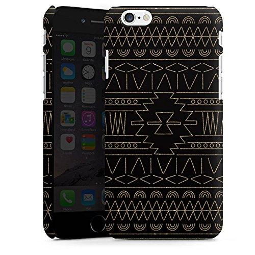 Apple iPhone 5s Housse Outdoor Étui militaire Coque Ethnique Or Motif Cas Premium mat