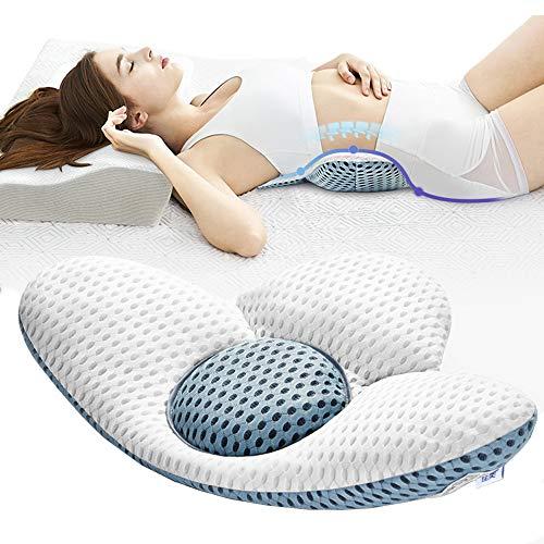 ACTNOW Lendenkissen Orthopädisches Lendenwirbelsäule Schlafunterstützung Lordosenstütze Bett Kissen für Ischias Schwangerschaft Hüfte- oder Beinschmerzen