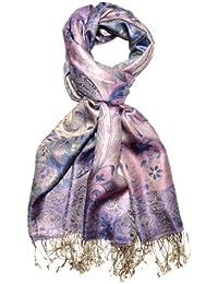 Lorenzo Cana Men's  FloralScarf Purple Gold