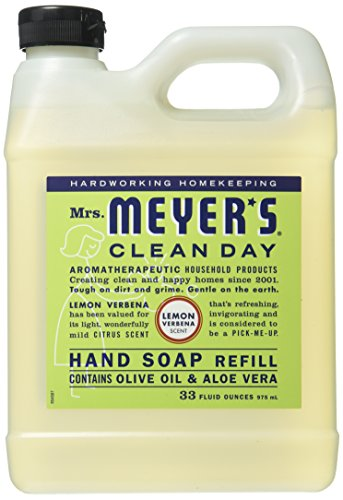 Mrs. Meyer's Liquid Hand Soap Refill, Lemon Verbena, 33 Fluid Ounce by Mrs. Meyer's Clean Day -