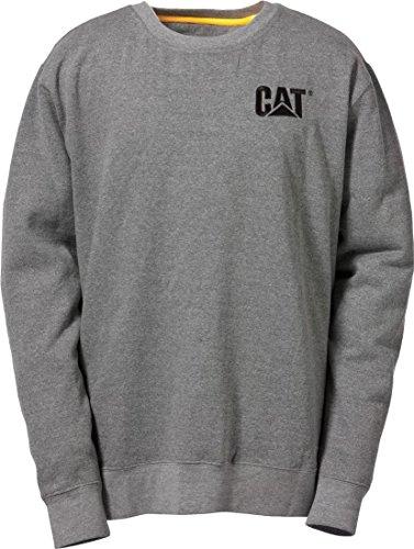 CAT Caterpillar C1910752 Marque commerciale à col ras du cou Chemises Workwear Unisexe Coton Gris XXL