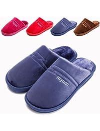 SSYY-Winter Cotone Pantofole Comfort Memory Foam Home Peluche Pantofole  Casa Scarpe Antiscivolo per Uomini Donne… 20cc1cbba4d