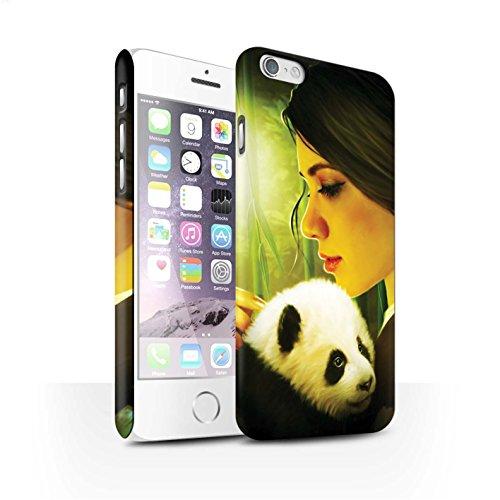Officiel Elena Dudina Coque / Clipser Matte Etui pour Apple iPhone 6 / Petit Panda/Bambou Design / Les Animaux Collection Petit Panda/Bambou