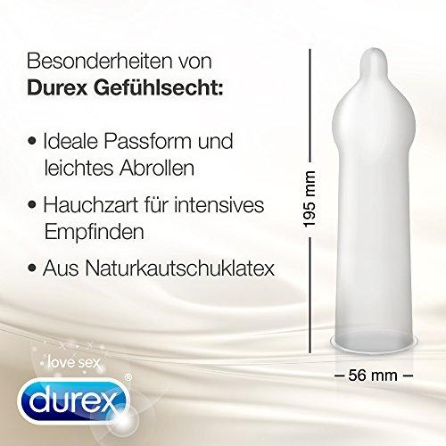 Durex Gefühlsecht Kondome, hauchzart für intensives Empfinden, 16er Pack (1 x 16 Stück) - 3