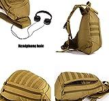 DCCN Rucksack mit einem Gurt Militär Crossbag Sling Rucksack für Radfahren Wandern Camping Schwarz -