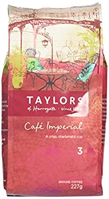 Taylors of Harrogate Café Imperial Medium Roast Ground Coffee 227 g (Pack of 3) by TAYP3