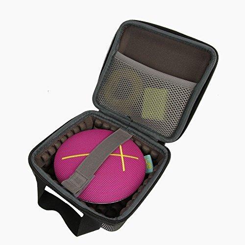 co2CREA EVA Stoßfest Tragreise Kasten Beutel Fall Tasche für Ultimate Ears UE Roll Ultra-Mobile Wasserdicht Wireless Bluetooth Lautsprecher mit Ladegerät kadapter und USB Cable