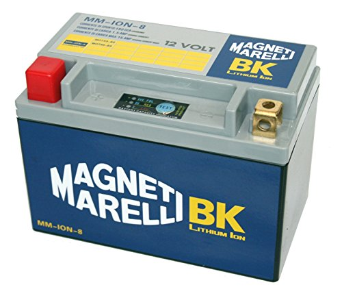 Magneti Marelli - Batería de litio para motocicletas MM-ION-8 YTX9-BS / YTR9-BS 8 AH