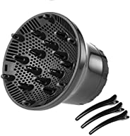 Anself Hair Dryer Diffuser Adjustable, Universal Diffuser Nozzle Suitable for 1.4in to 2.67in, Blow Dryers Dif