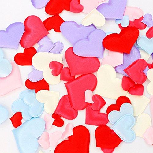 Hochzeit Schwamm Herzform Konfetti, 100pcs Hochzeit Werfen Blütenblätter, Hochzeit Bett/Tisch, Bridal Dusche, Party Konfetti Scatter Dekorationen (6Farben) Free Size rot