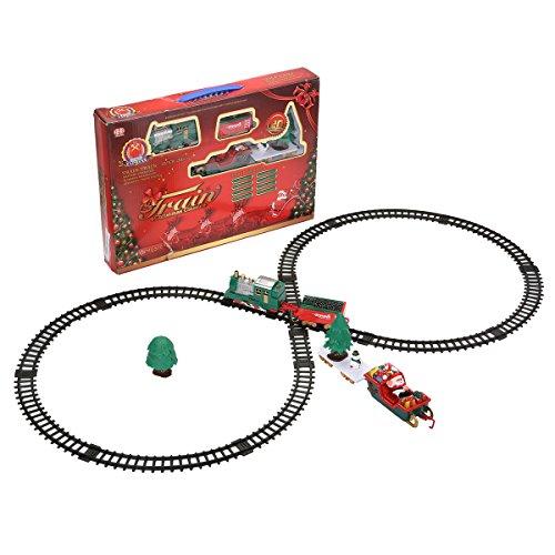 (KING DO WAY Weihnachts Musical Zug Eisenbahnstrecke Licht Sound Spielzeug Train Kinder Gift)