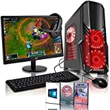 ADMI GForce-1 Gaming PC Package: Versatile Desktop Computer with 21.5 Inch 1080p Monitor, Keyboard & Mouse Set (AMD A6-6400K 4.1GHz Dual Core CPU with Radeon HD 8470D Graphics, USB 3.0, 500W PSU, 1TB Hard Drive, 8GB RAM, 24 x DVDRW Drive, Wifi, CIT G Force Black/Red Gaming Case, Pre-Installed with Windows 10 Operating System)