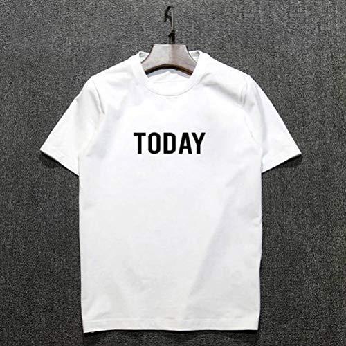 t Rundhals-Ausschnitt Slim Fit Baumwolle-Anteil,Moderner Männer T-Shirt Crew Neck Sweatshirt Kurzarm, O&YQ, white, m ()