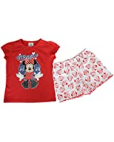 Disney Minnie Mouse Girls Pyjamas Cotton Pyjama Set PJ's