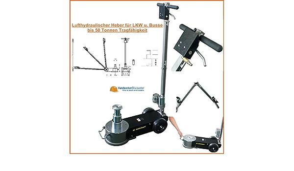 Rodcraft Luft Hydraulischer Wagenheber Bis 50 Tonnen Teleskopisch Für Lkw Und Nutzfahrzeuge Baumarkt