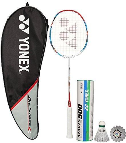 Yonex Arcsaber FD & Mavis 500 Combo (Arcsaber FD Badminton Racquet + Mavis 500 Pack of 6 Shuttlecock)  available at amazon for Rs.5695