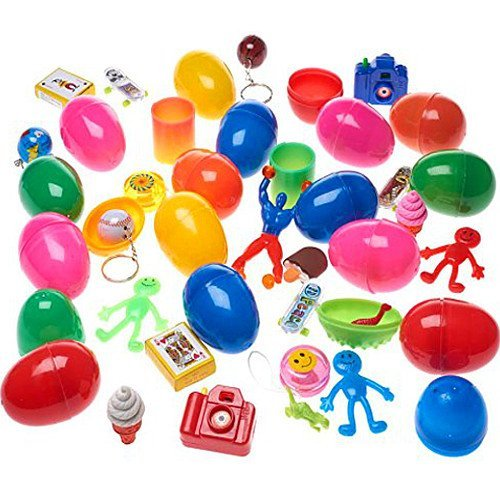 Preisvergleich Produktbild German Trendseller® - 24 x Mega - Eier - Überraschungs - Spielzeug - Mix  Spielzeug Eier Mix  Mitgebsel  Kindergeburtstag  Überraschung  24 Stück