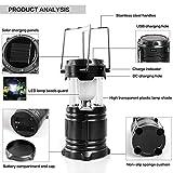 #6: NPKING Solar Emergency Light Lantern + USB Mobile Charging Point + Rechargeable Night Light Travel Camping Lantern- Assorted, 1 Unit