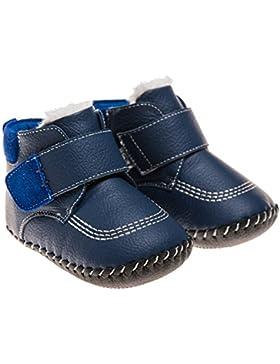 Little Blue Lamb Babyschuhe Lauflernschuhe Booties Stiefel gefüttert navy blau