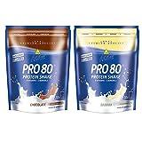 Inkospor Active Proteinshake Pro 80 Beutel 2er Mix Pack (2 x 500 g) Schoko/Banane, 1er Pack (1 x 1 kg)