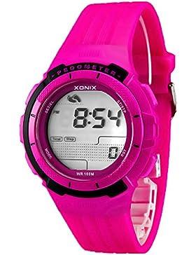 Trainings XONIX Armbanduhr Unisex Schrittzähler Kalorienzähler Speicher WR100m, PSG/4