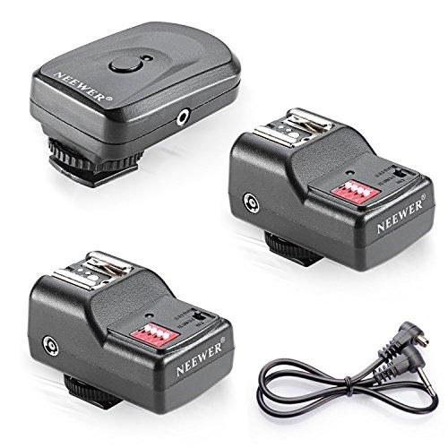 Neewer Wireless Fernbedienung FM-Radio-Blitz Speedlite-Trigger mit 2,5mm PC-2 Empfänger (Vivitar Auto-blitz)