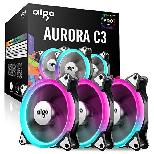 Aigo Ventilator, Einstellbarer Luftstrom mit Fernbedienung, Geschwindigkeit und LED-Anzeigen einstellbar Geschwindigkeit Anzeige