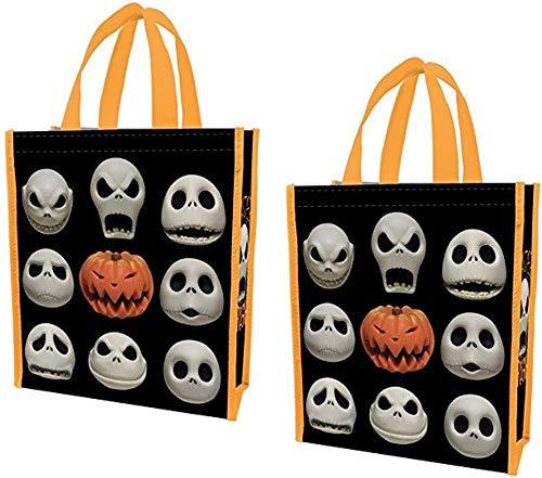 Tim Burton Nightmare Before Christmas Jack Skellington Einkaufstasche, klein, recycelt, 2 Stück