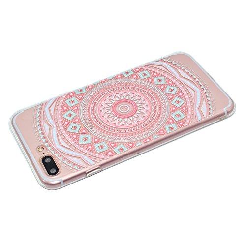 iPhone 7 Plus Coque, Voguecase TPU avec Absorption de Choc, Etui Silicone Souple Transparent, Légère / Ajustement Parfait Coque Shell Housse Cover pour Apple iPhone 7 Plus 5.5 (motif de couleur)+ Grat gyro de couleur